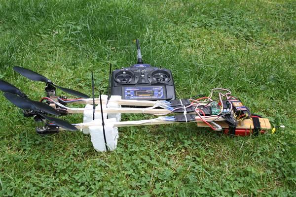 Tricopter zusammengeklappt
